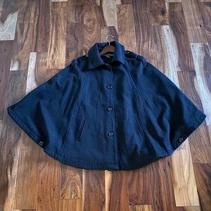 Kenneth Cole Reaction navy blue Cape coat jacket
